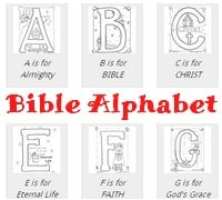 Bible Alphabet Coloring Sheets
