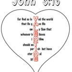 John 3:16 Heart Coloring Pages (Free Valentine Printable)