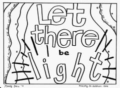 let their be light coloring page