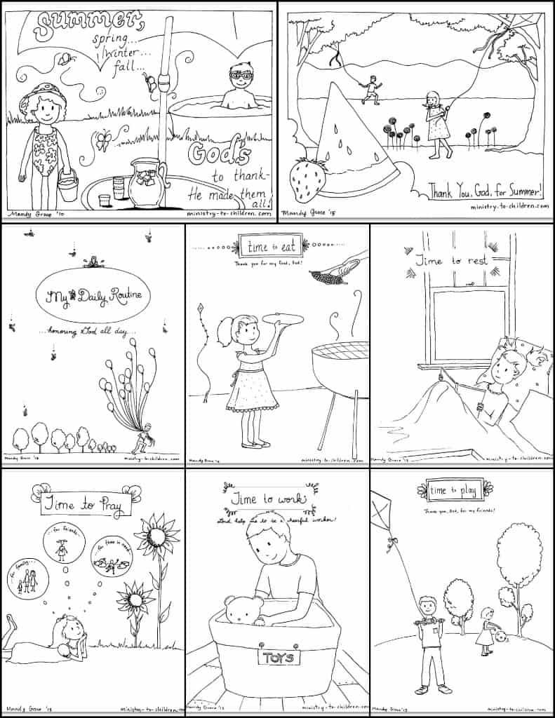 Free Summer Coloring Pages for Kids