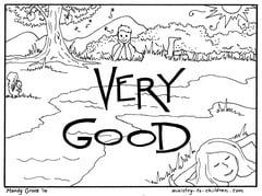 Creation Day 7 Coloring Page