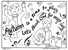 Autumn Coloring Pages for Fall or Thanksgiving