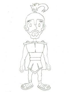 Printable Roman Centurion Stick Puppet