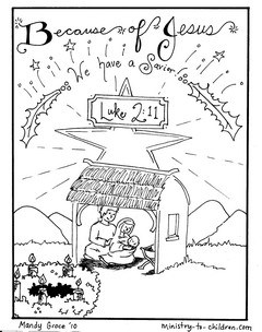 Nativity Coloring Page for Advent