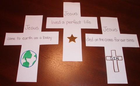 Cross Shape-book Craft Project