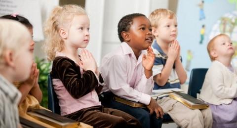kids enjoying a church program