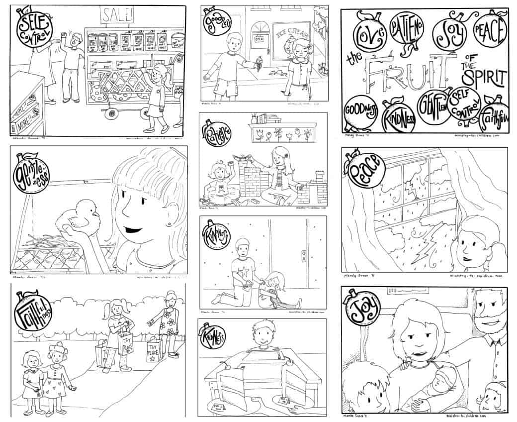 "Printable ""Fruit of the Spirit"" Coloring Book for Kids - 100% Free"