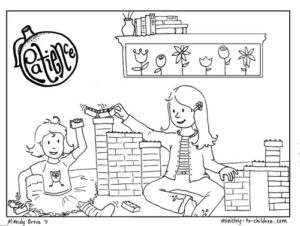 patience coloring page preview