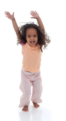 preschool girl playing