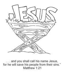 Jesus Name in Manger