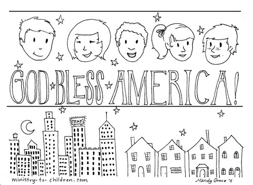 God Bless America Coloring Page
