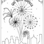 """God Bless America"" Coloring Page"