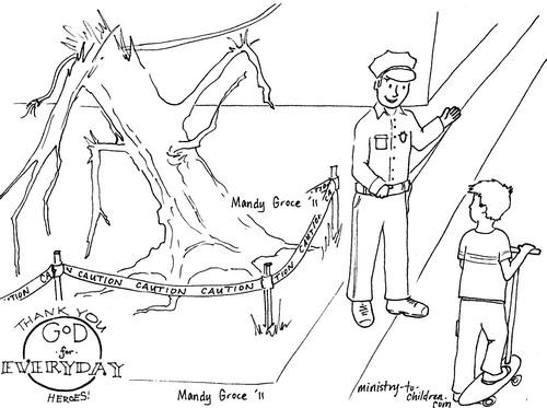 Policeman coloring page pdf format