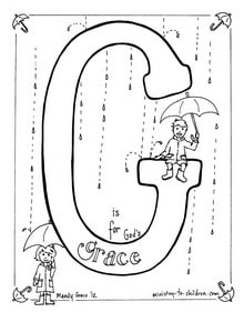 Bible Alphabet coloring page