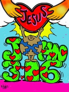 John 3:16 Valentine Coloring Pages