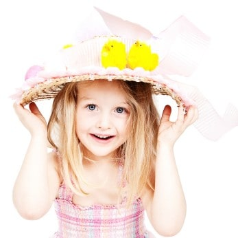 Little Girl in Easter Hat
