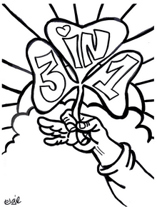 Coloring page for Saint Patrick's Day
