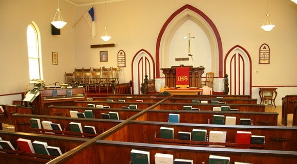 Interior of old traditional church