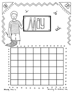 Coloring Page for May