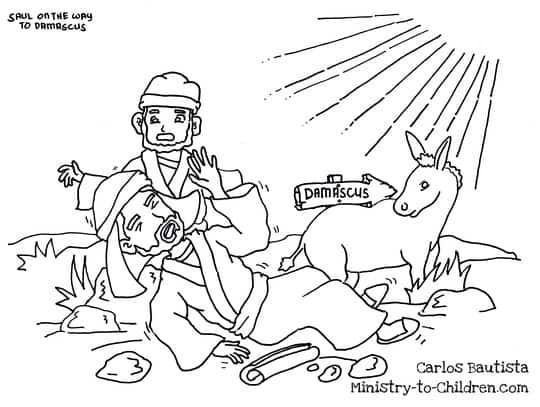 Coloring Sheet Saul on the Road to Damascus