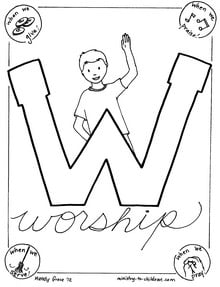 Worship coloring sheet printable