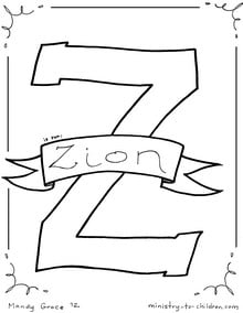 Zion coloring page printable