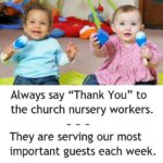 Flyer: Show Appreciation to Church Nursery Workers