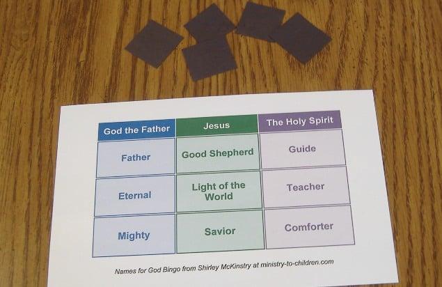Names for God Bingo Game Printable