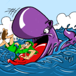 Jonah and the Whale Cartoon Illustrations