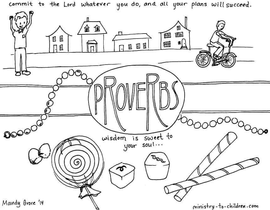 """Proverbs"" Bible Coloring Page"