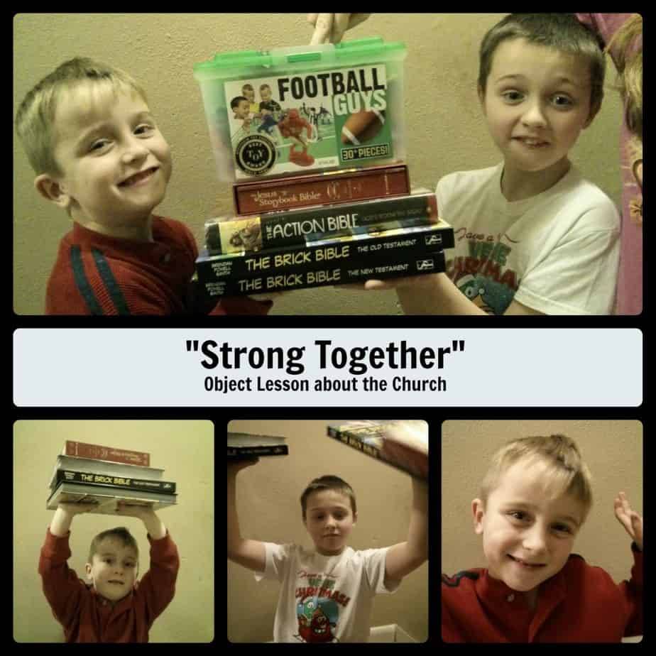 """Strong Together"" Object Lesson about the Church"