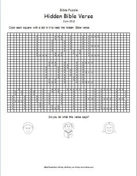 Hidden Bible Verse Puzzle - John 15:12