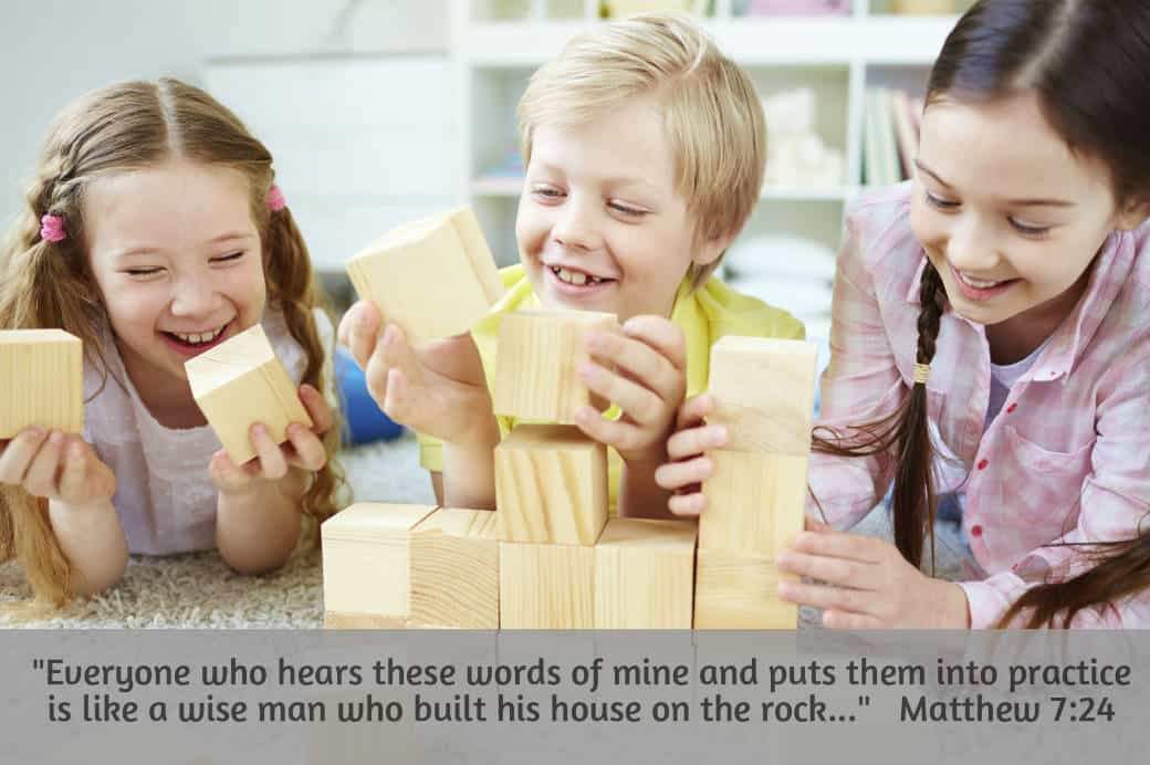 Children's Bible lesson from Matthew 7:24
