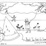 """Thank You God … for Summer"" Coloring Page"