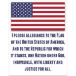 Pledge of Allegiance to the American Flag (Free Printable)