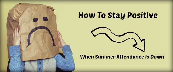 Low summer church attendance - how to stay positive