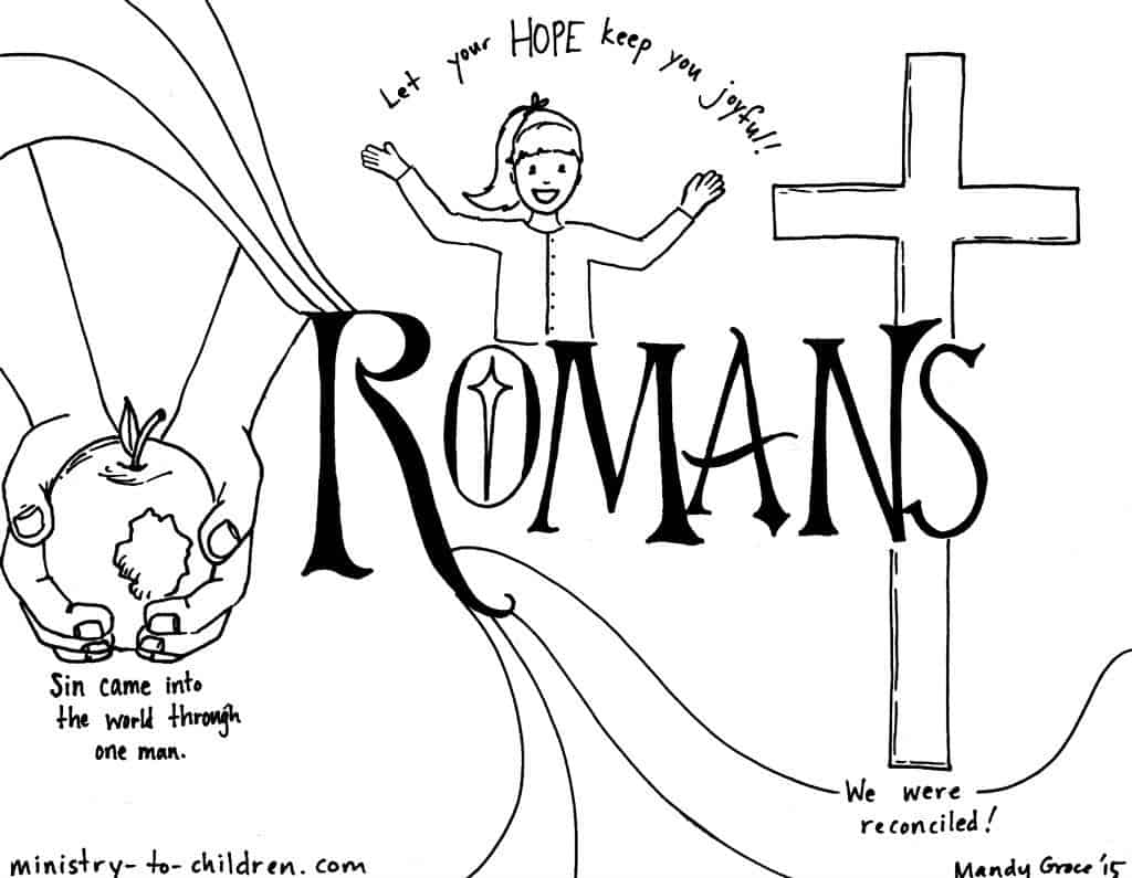 """Romans"" Bible Book Coloring Page"