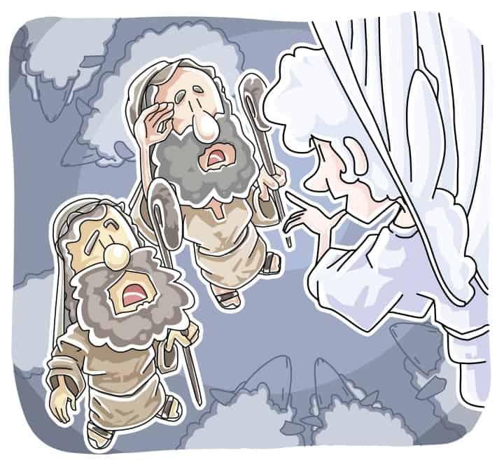 Angels Visit the Shepherds Luke 2:8-20 (Advent Sunday School Lesson)
