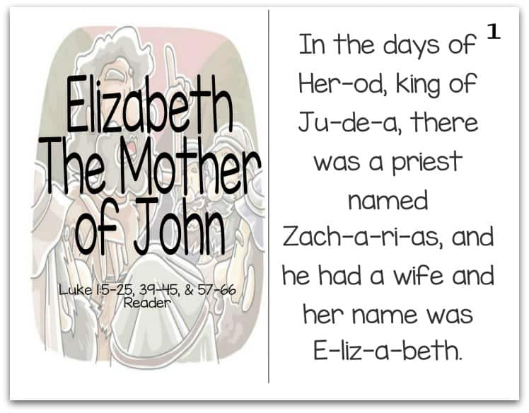 Story of Elizabeth Reader (Mothers of the Bible Part 8 of 9)