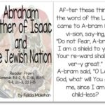 """""""Father Abraham"""" Story for Early Readers"""