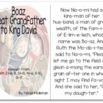 """""""Boaz, Grandfather to King David"""" Story for Early Readers"""