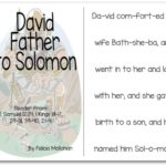 """""""King David, Father to Solomon"""" Story for Early Readers"""