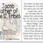 """""""Jacob, Father of the 12 Tribes of Israel"""" Story for Early Readers"""