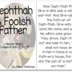"""""""Jephthah, the Foolish Father"""" Story for Early Readers"""