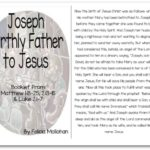 """""""Joseph: Jesus' Earthly Father"""" Bible Story Booklet"""