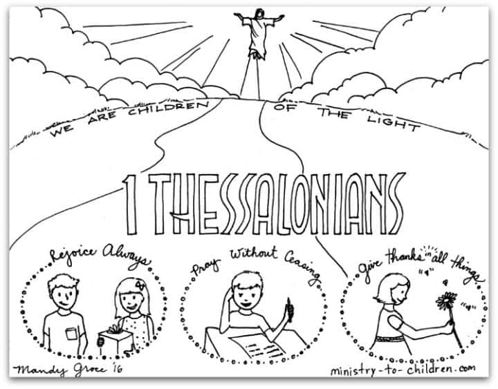 Bible Book Coloring Page - 1 Thessalonians - Paul's Letters
