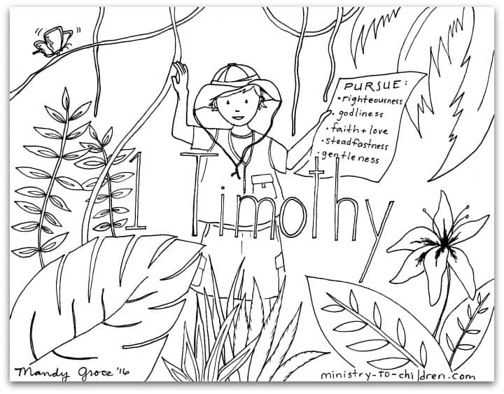 1 Timothy Bible Book Coloring Page - Pastoral Epistle of Paul