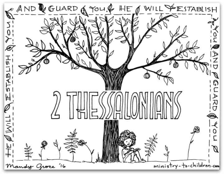 Paul's Epistle - 2 Thessalonians - Bible Books Coloring Pages