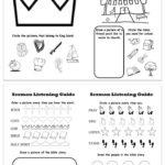 Printable Sermon Listening Worksheets for Kids