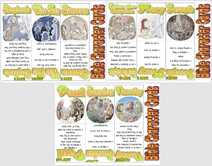 New Testament Bible Character Cards - Part 1 of 2